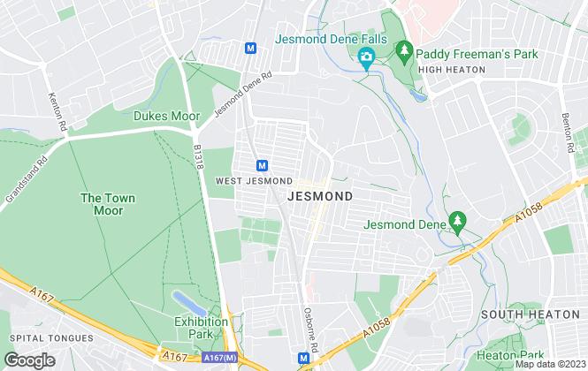 Map for Acorn Properties Ltd, Students