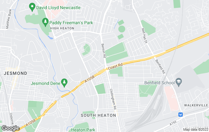 Map for Brunton Residential, Newcastle Upon Tyne