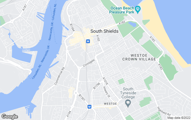 Map for Pattinson Estate Agents, South Shields
