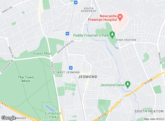 Map for Bowson Lettings, Jesmond