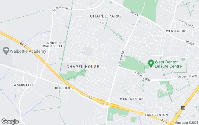 Map for WalkersXchange, Newcastle