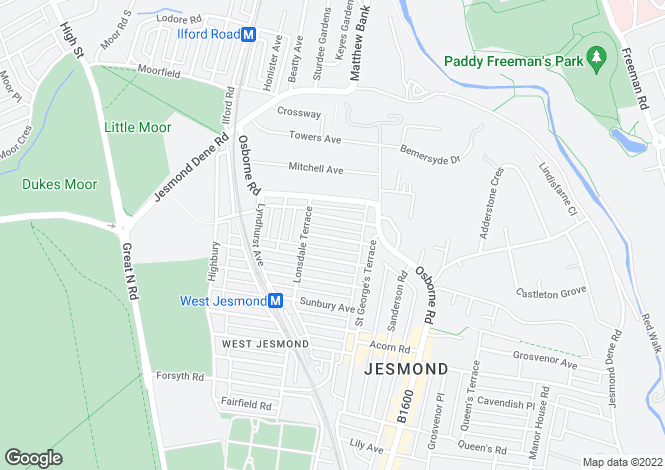 Map for Hazelwood Avenue, Jesmond, Newcastle Upon Tyne, Tyne and Wear