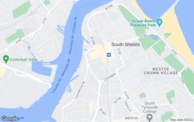 Map for Chase Holmes, South Shields