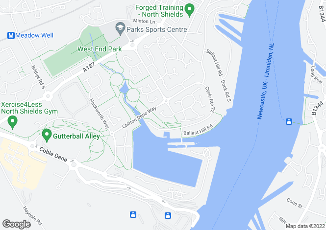 Map for The Haven, North Shields, Tyne & Wear, NE29