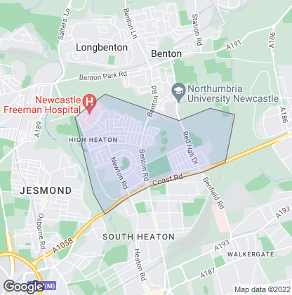 Map of property in High Heaton