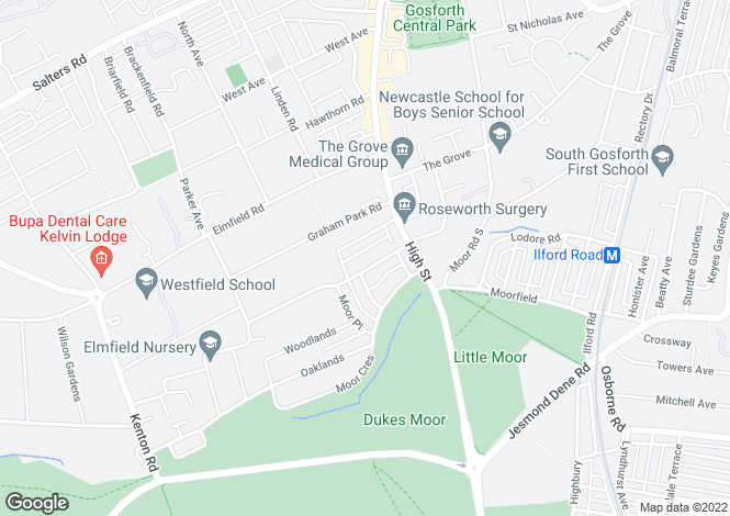 Map for Gosforth, The Drive