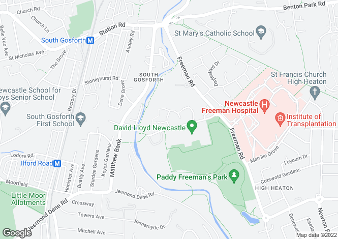 Map for High Laws, South Gosforth, Newcastle upon Tyne, Tyne and Wear