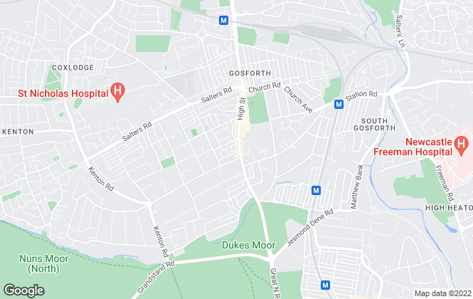 Map for Fine & Country, Gosforth