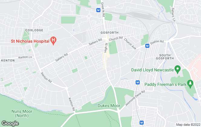 Map for Pat Robson, Gosforth