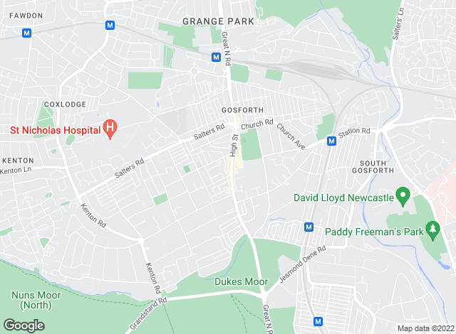 Map for Groves Residential, Gosforth