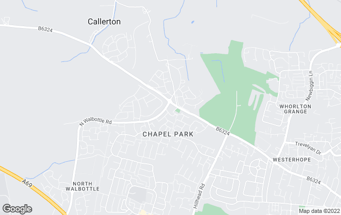 Map for Ashberry Homes (Durham)