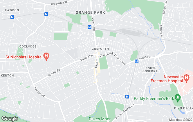 Map for Andrew Craig, Gosforth