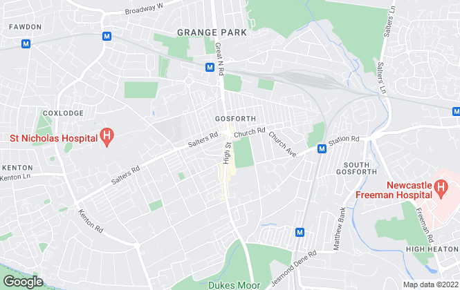 Map for Your Move , Gosforth
