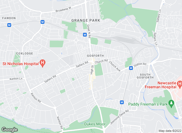Map for Rook Matthews Sayer, Gosforth