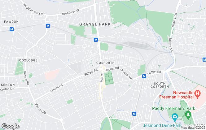 Map for Pattinson Estate Agents, Gosforth