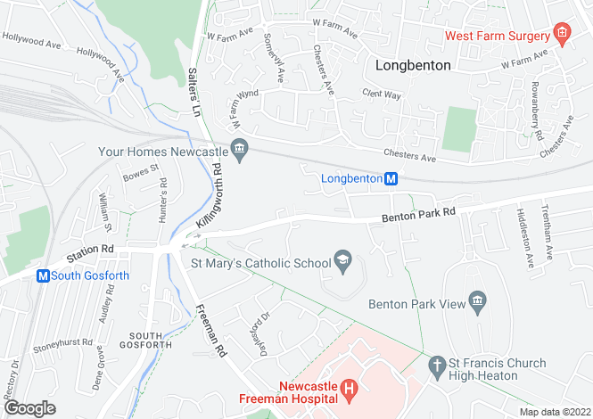 Map for Wiseton Court, Newcastle Upon Tyne, Tyne and Wear