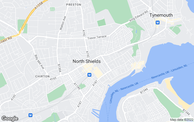 Map for R A Jackson & Son, North Shields