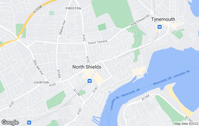 Map for Hunters, North Shields