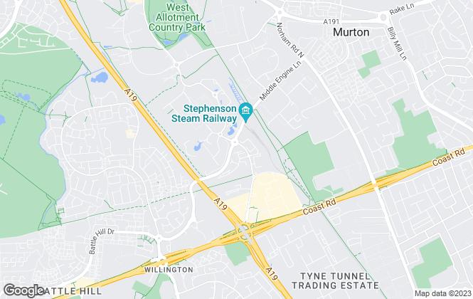 Map for Pattinson Estate Agents, Auction