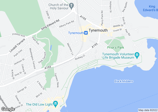 Map for Rodney Close, Tynemouth, Tyne & Wear, NE30