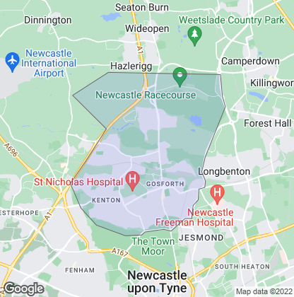 Map of property in Gosforth