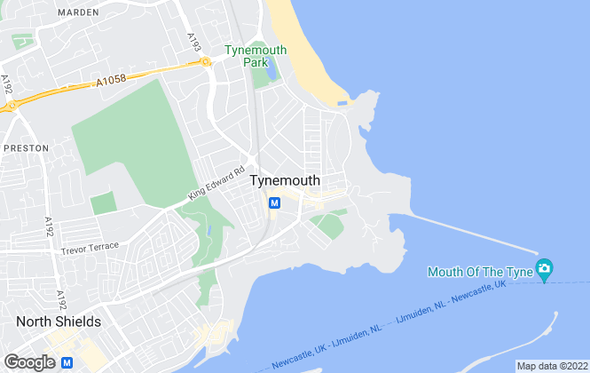 Map for Jan Forster Estates, Tynemouth