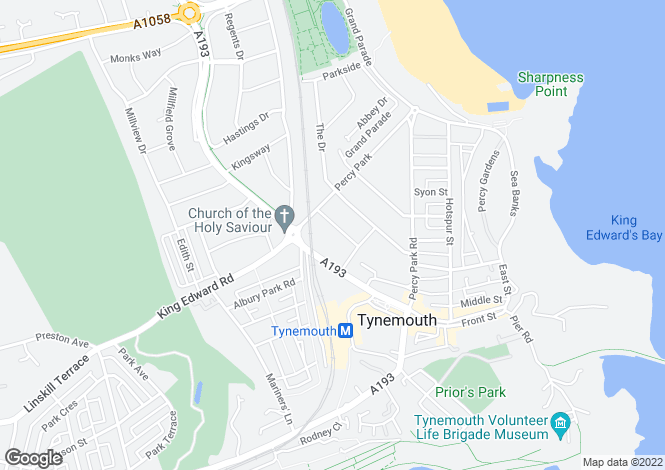 Map for Princeway, Tynemouth, NE30