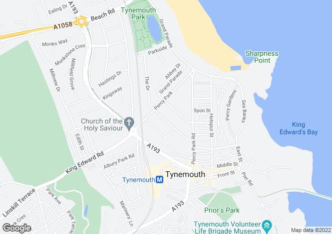 Map for Queensway, Tynemouth, NE30
