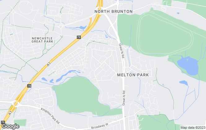 Map for Jan Forster Estates, Gosforth - Brunton Park
