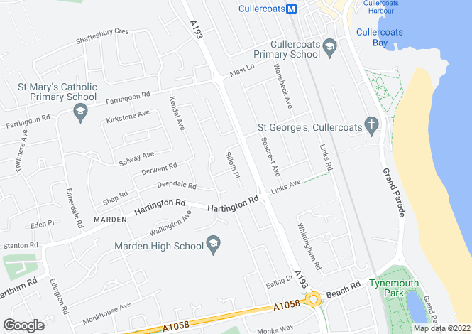 Map for Silloth Place,