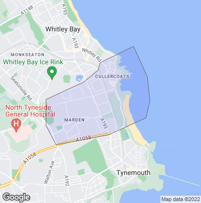 Map of property in Cullercoats