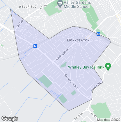 Map of property in Monkseaton