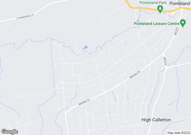 Map for Moor Lane, Darras Hall, Newcastle upon Tyne