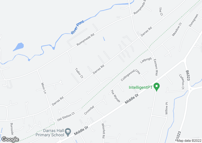 Map for Darras Road,