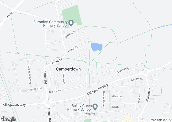 Map for Coburn Close, Burradon, Cramlington NE23