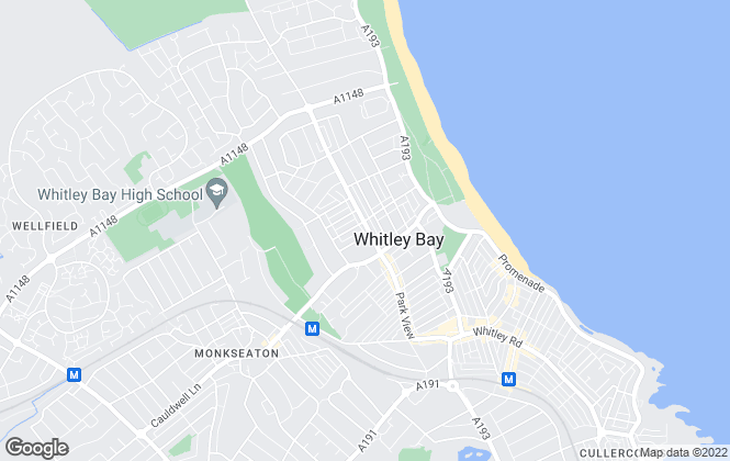 Map for Embleys Estate Agents, Whitley Bay