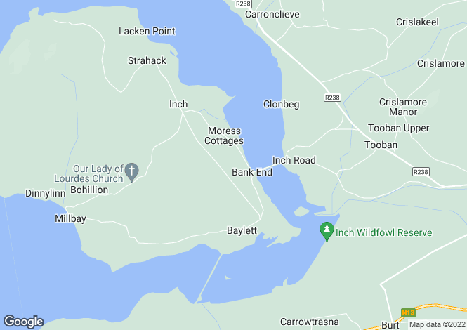 Map for Lower Carrickanee, Inch Island, Donegal