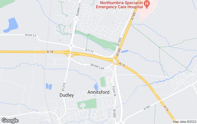 Map for Gladman Developments Ltd, Northumberland