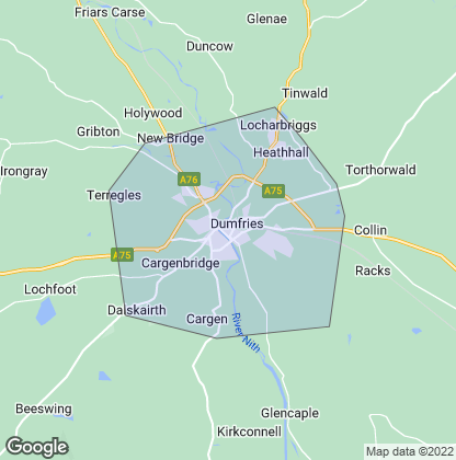 Map of property in Dumfries