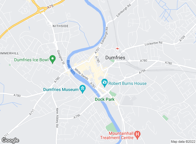 Map for YOUR MOVE, Dumfries