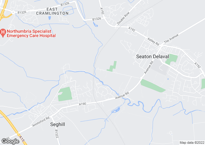 Map for Mares Close, Seghill, Cramlington