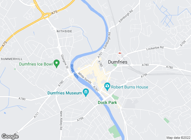 Map for Cumberland Estate Agents Ltd, Dumfries
