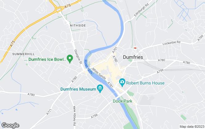 Map for lj residential lettings, Dumfries
