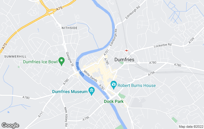 Map for Realter Estate Agents, Dumfries