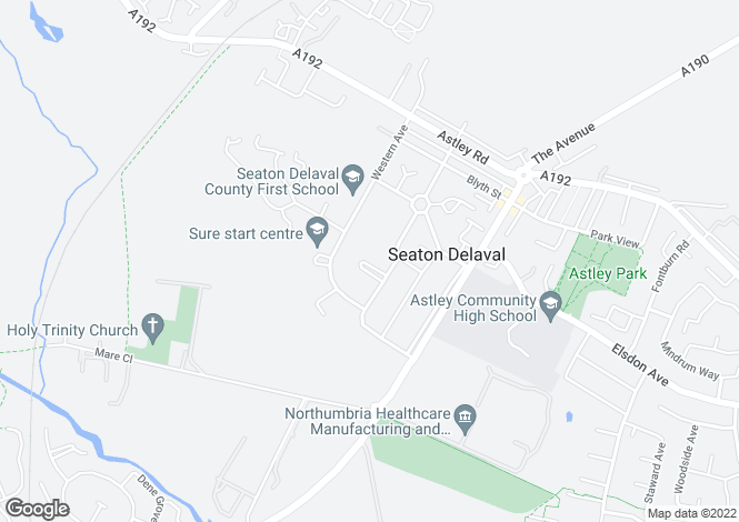 Map for Bolam Way, Seaton Delaval, Tyne And Wear