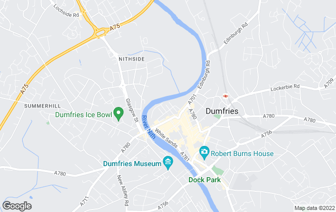 Map for Savills, Dumfries