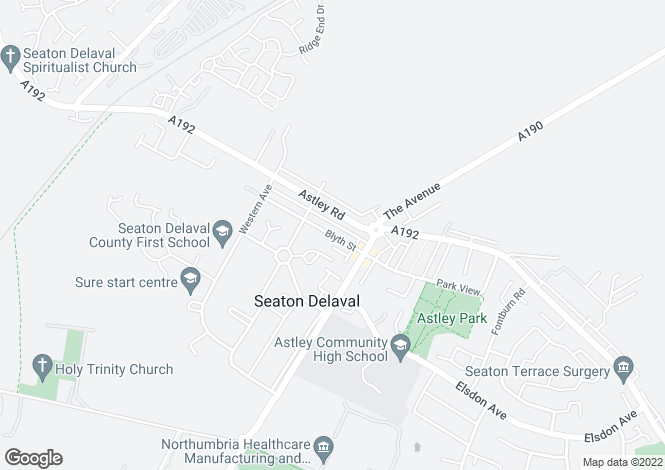 Map for Blyth Street, Seaton Delaval, Seaton Delaval, Tyne And Wear, NE25