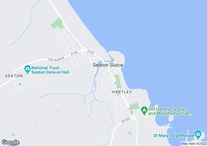 Map for Bywell Terrace    Seaton Sluice