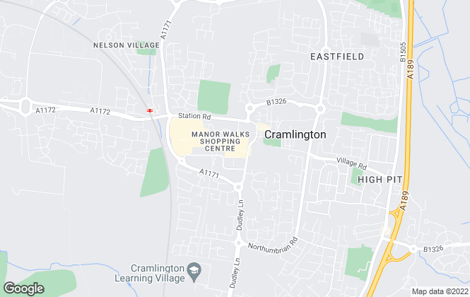 Map for Reeds Rains Lettings, Cramlington