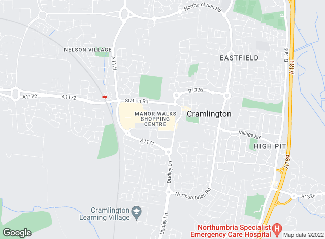 Map for Mike Rogerson Estate Agents, Cramlington